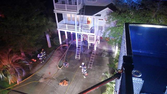 north myrtle beach house fire caused by lightning