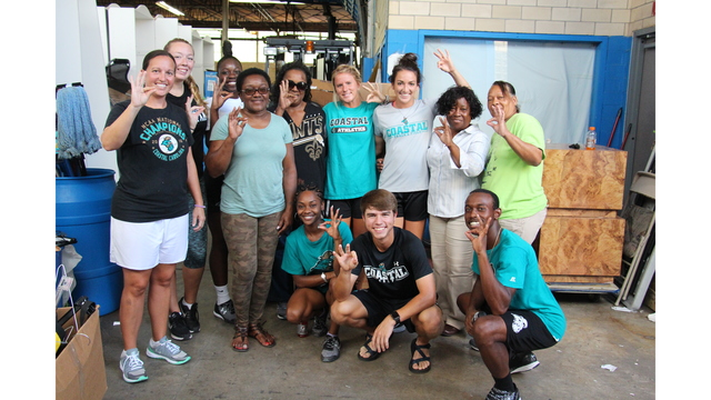 Ccu Student Athletes Hold Hurricane Harvey Relief Drive