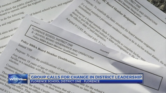 florence one community group calls for resignation of superintendent