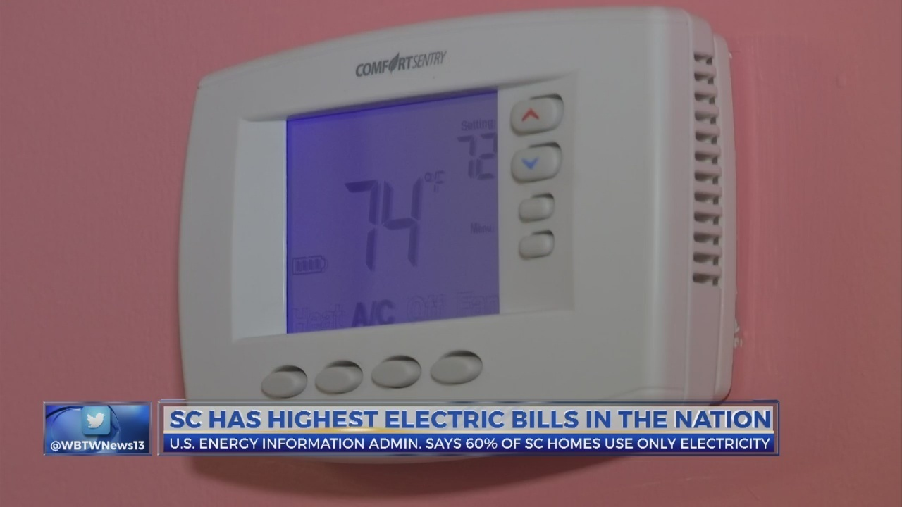 SC residents paying highest electric bills in the country