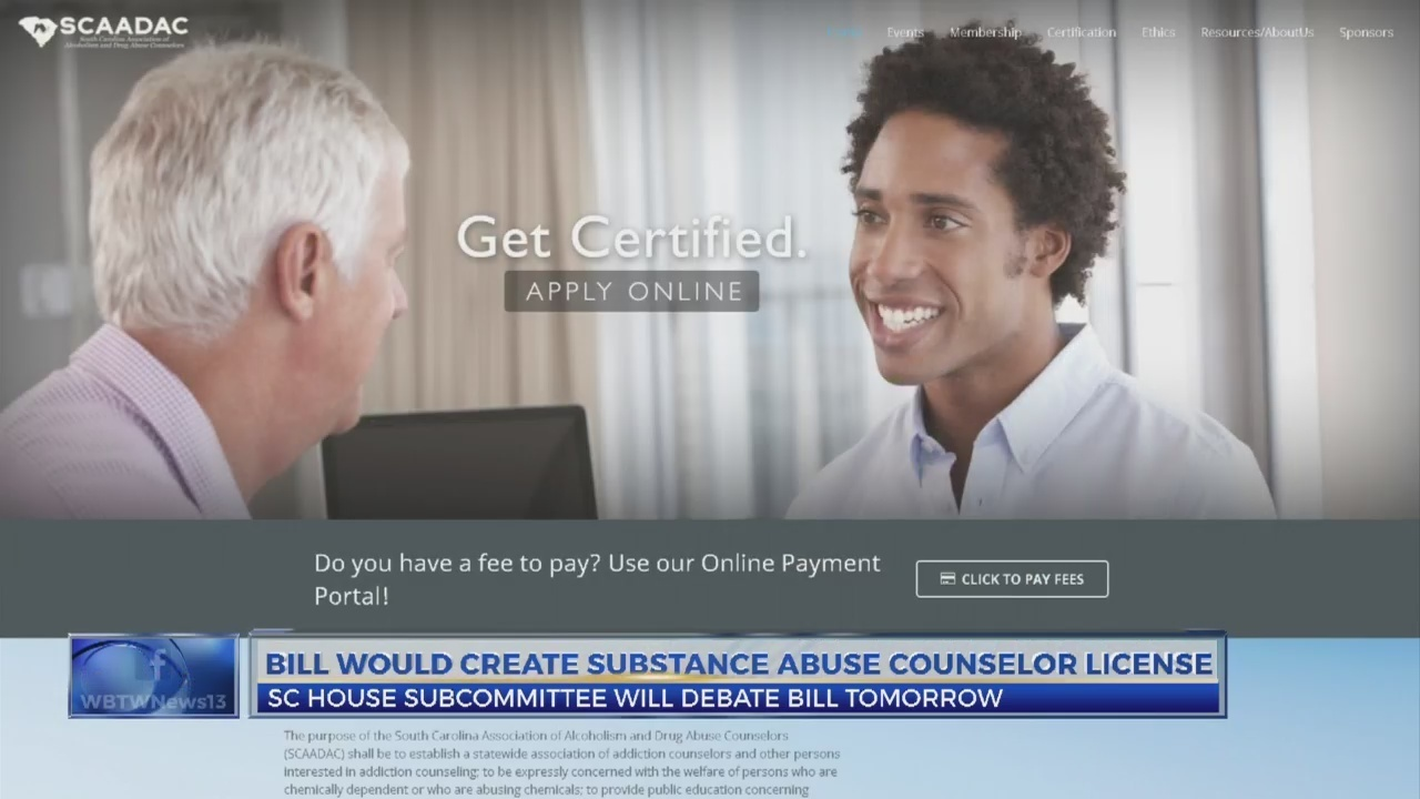 Sc Lawmakers To Discuss Licensing For Addiction Counselors