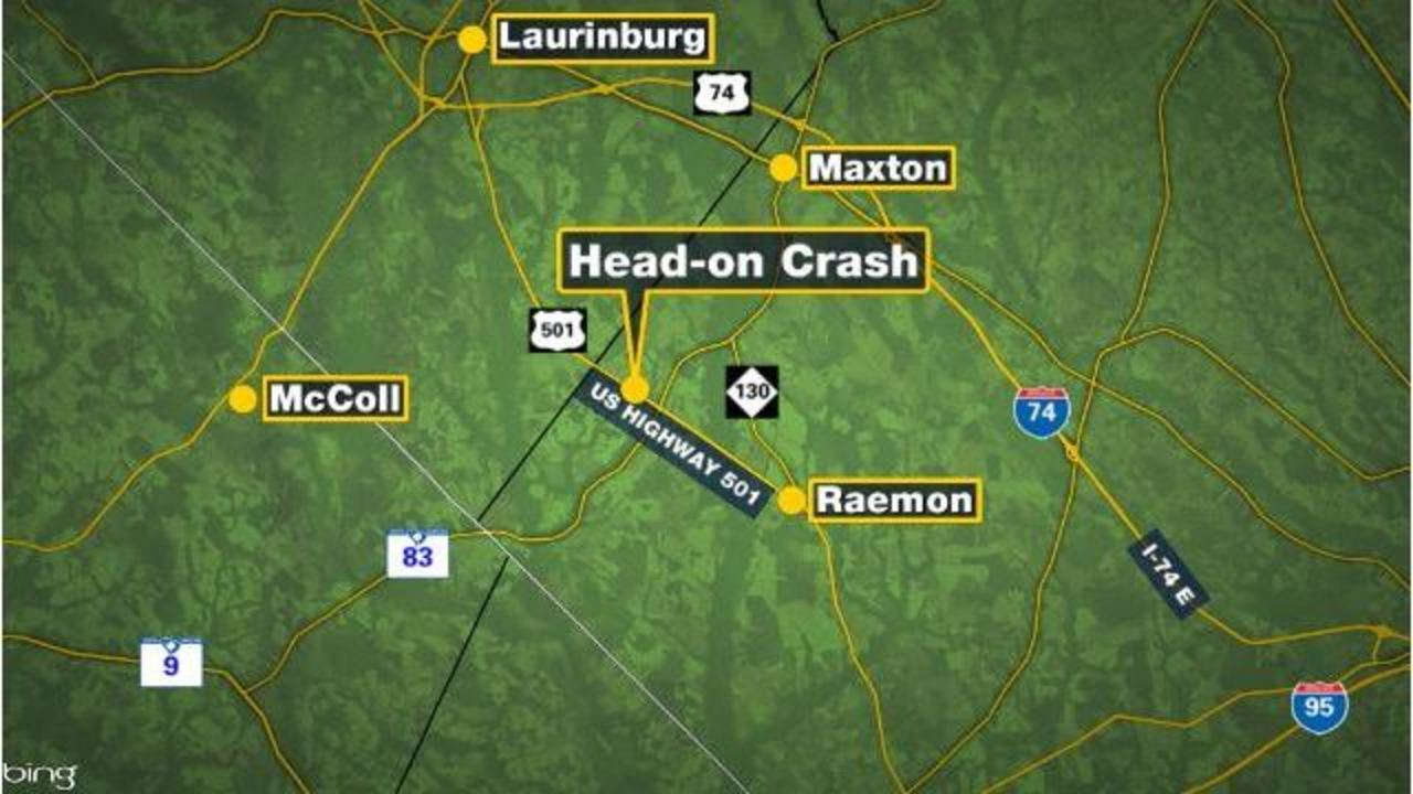 Maxton Nc Map.Four Killed In Head On Crash In Robeson County