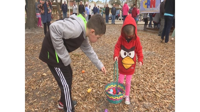 Dozens of children with autism take part in sensory-friendly Easter egg hunt