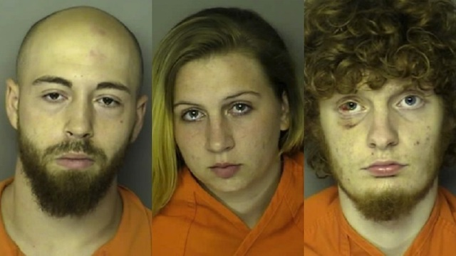 Three arrested after