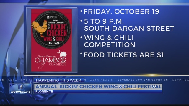 Florence Chambers Annual Kickin Chicken Wing Chili Festival To