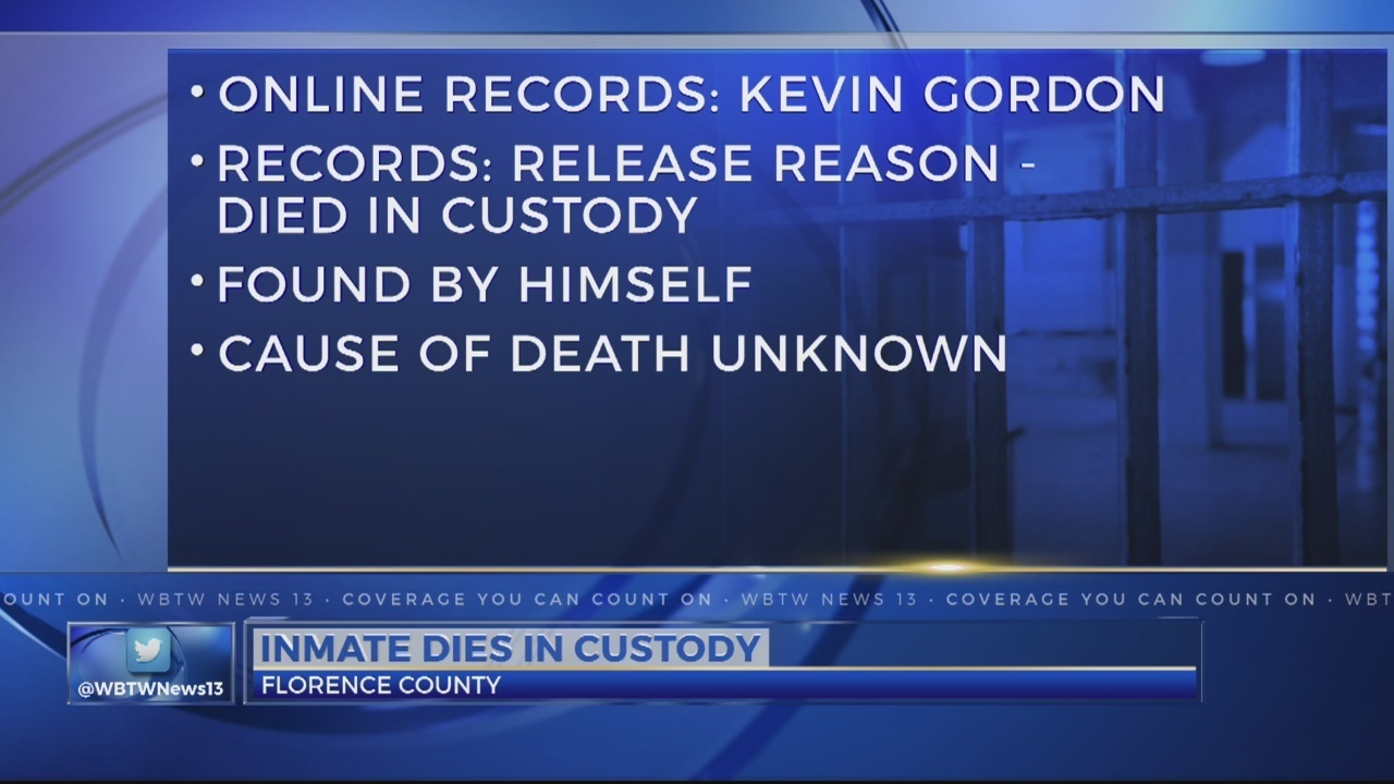 Inmate dies in Florence County Detention Center
