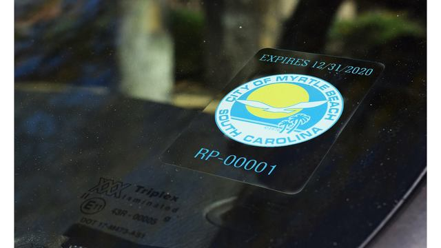 Registration opens for Myrtle Beach Resident Parking decals