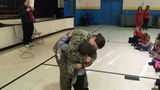 Robeson County elementary school student gets birthday surprise from Navy mom