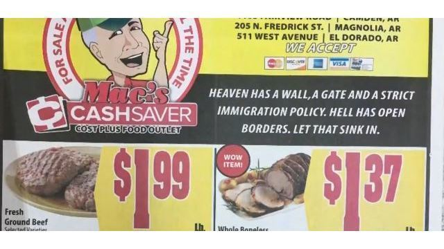 'Heaven has a wall': Southern grocery store stirs controversy