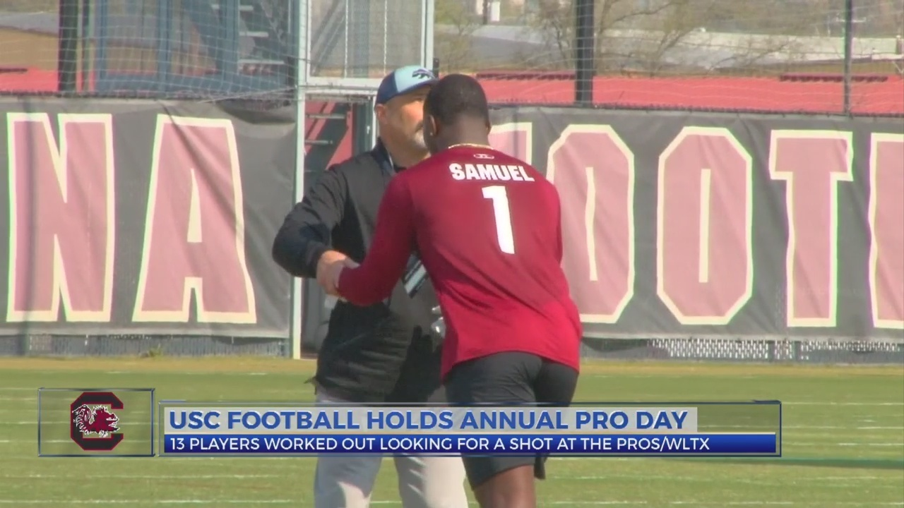 Gamecock Football Team Holds Annual Pro Day