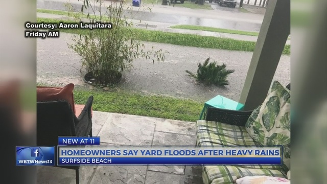 Southern strand of storms floods Surfside yards