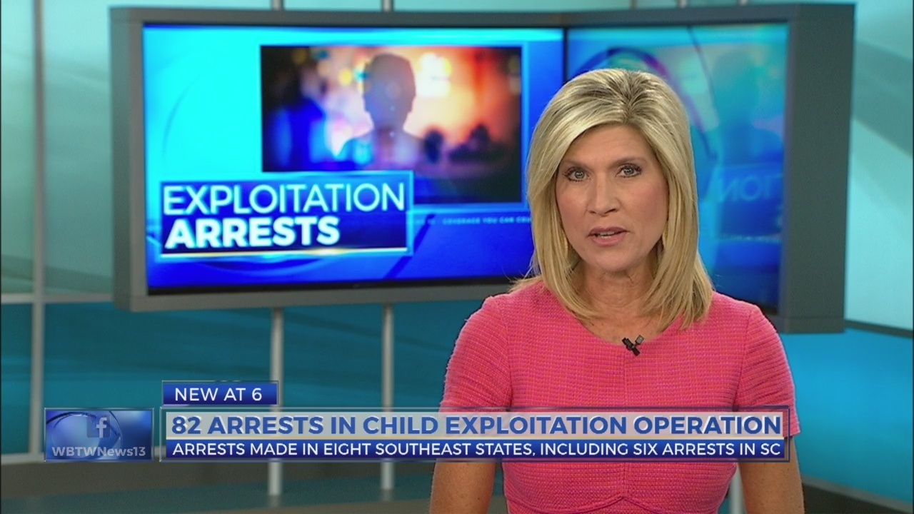 82 arrests, including 6 in SC, made in multi-state child
